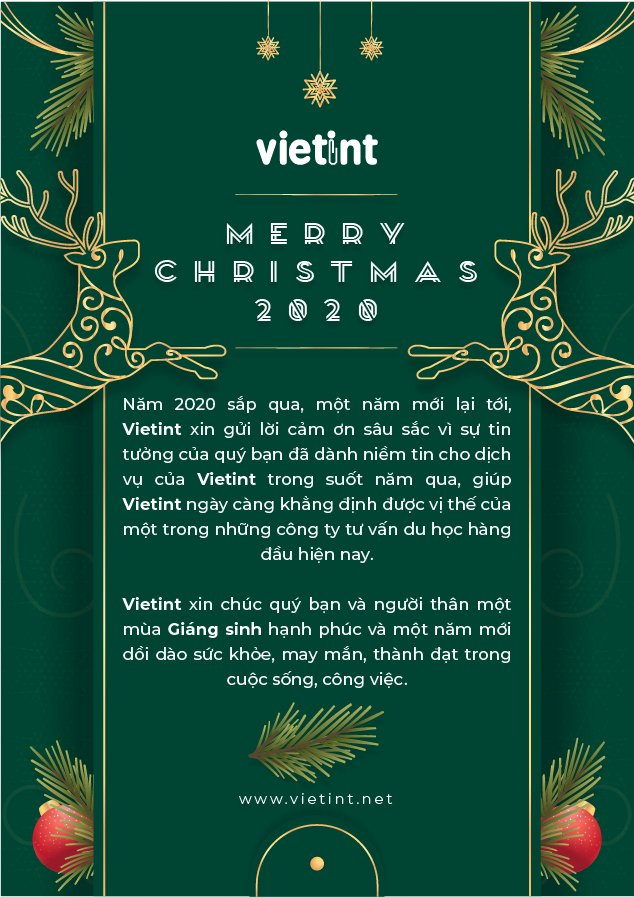 Merry Christmas and Happy Festive Season from Vietint