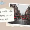 Học bổng 100% học phí chương trình Master UK
